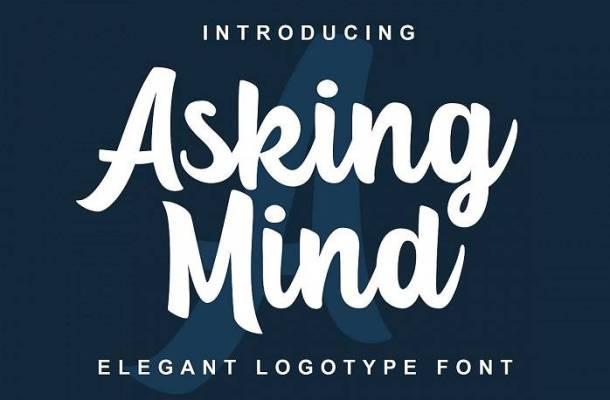 Asking Mind Font