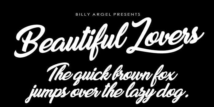 Beautiful Lovers Font