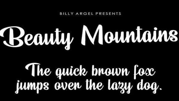 Beauty Mountains Font