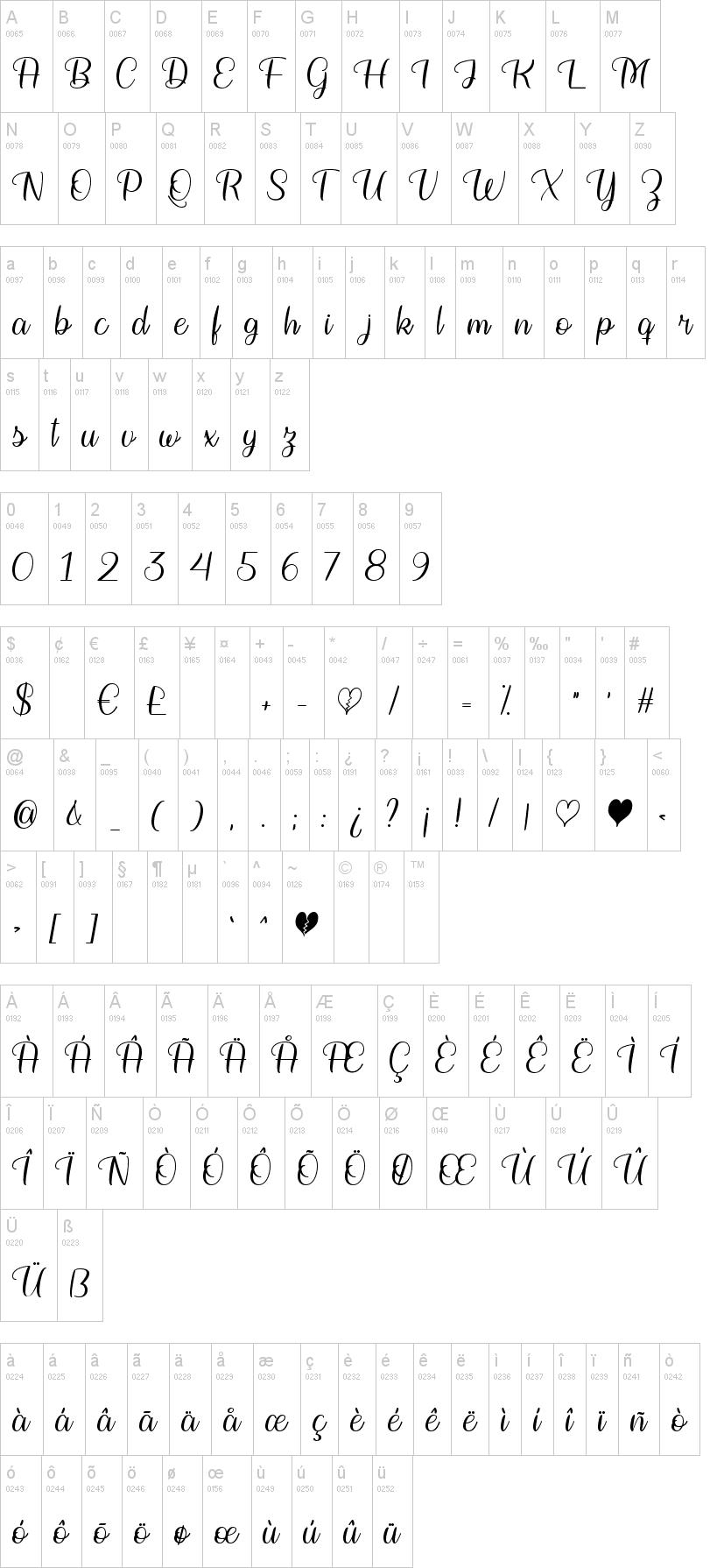 Bringing on the Heartbreak Font-1