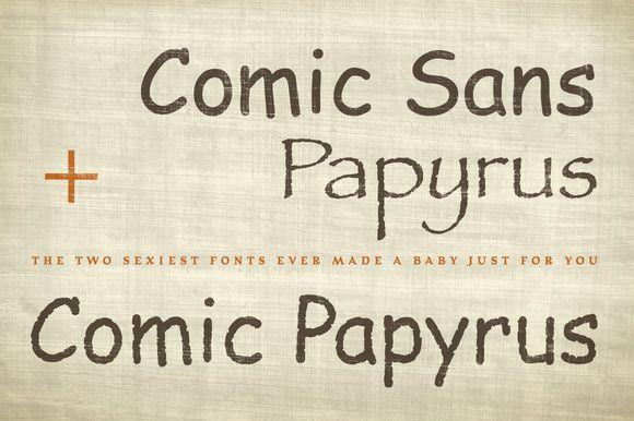 Comic Papyrus Font