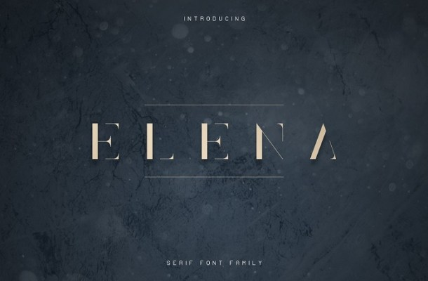 Elena Luxe Serif Font