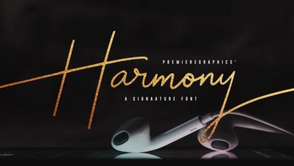 Harmony Signature Font