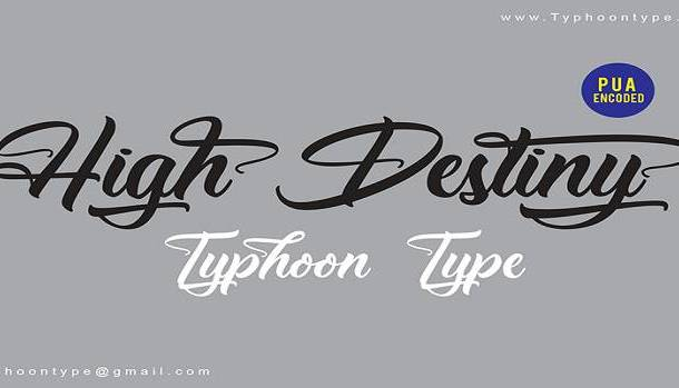 High Destiny Font
