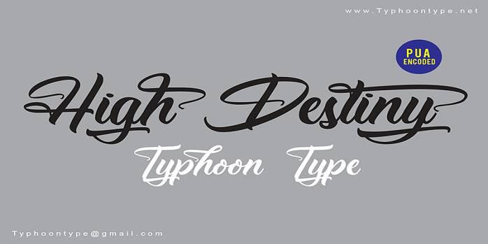 High Destiny Font