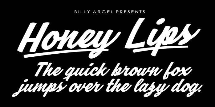 Honey Lips Font