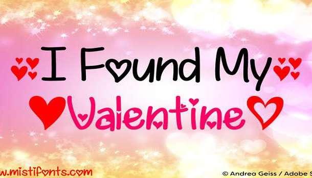 I Found My Valentine Font Family
