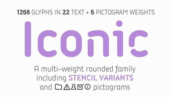 Iconic Font Family