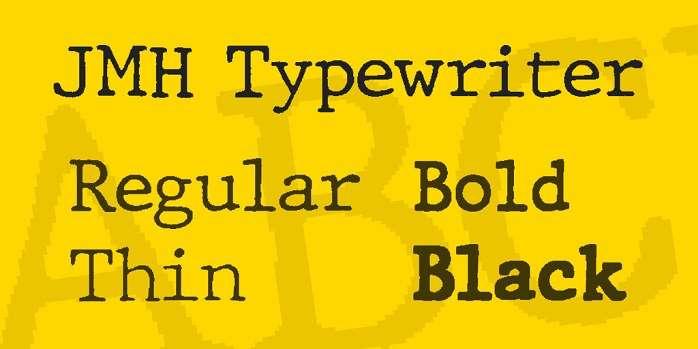 JMH Typewriter font
