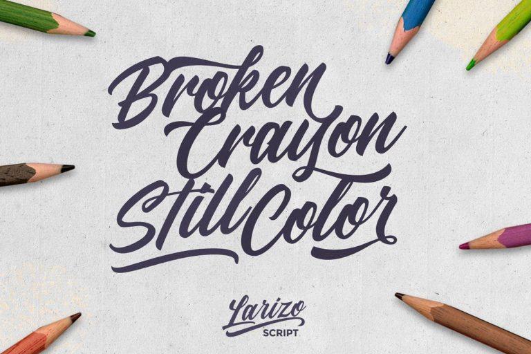 Larizo Script Font-1