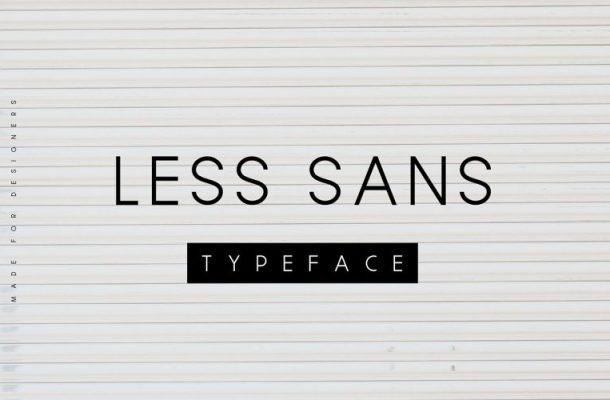 Less Sans Minimal Typeface