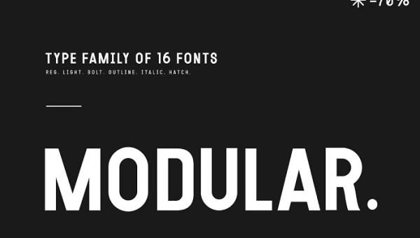 Modular Font Family