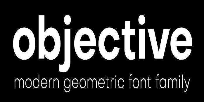 Objective Font Family - Dafont Free