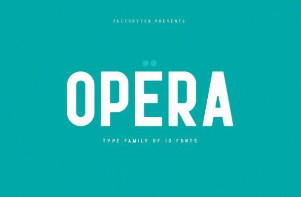 Opera Font Family
