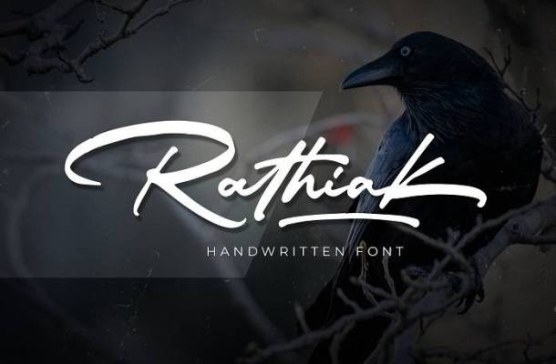 Rathiak Handwritten Font