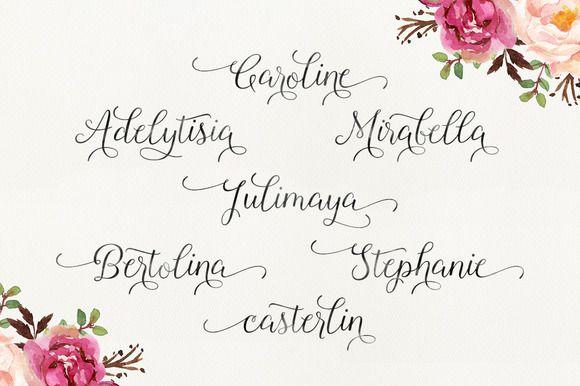 Roselina Script Font-1