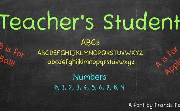 Teachers Student Font