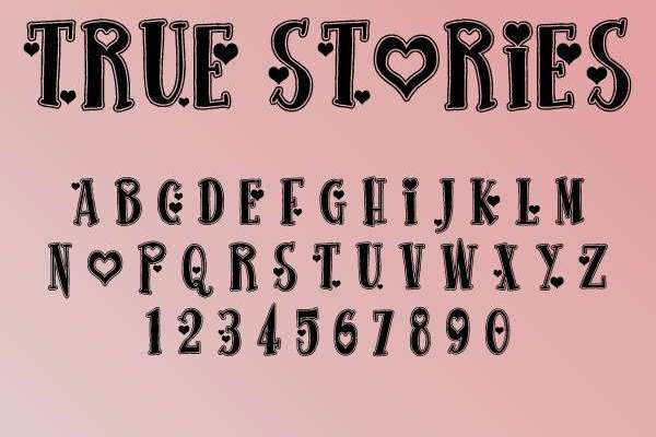 True Stories Font