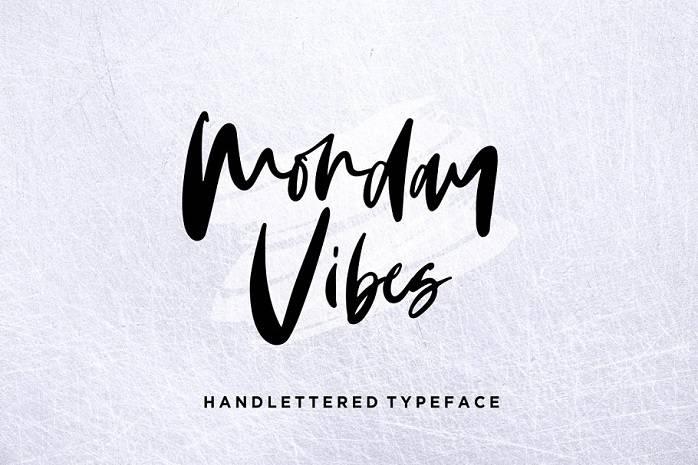 monday-vibes-handwritten-font