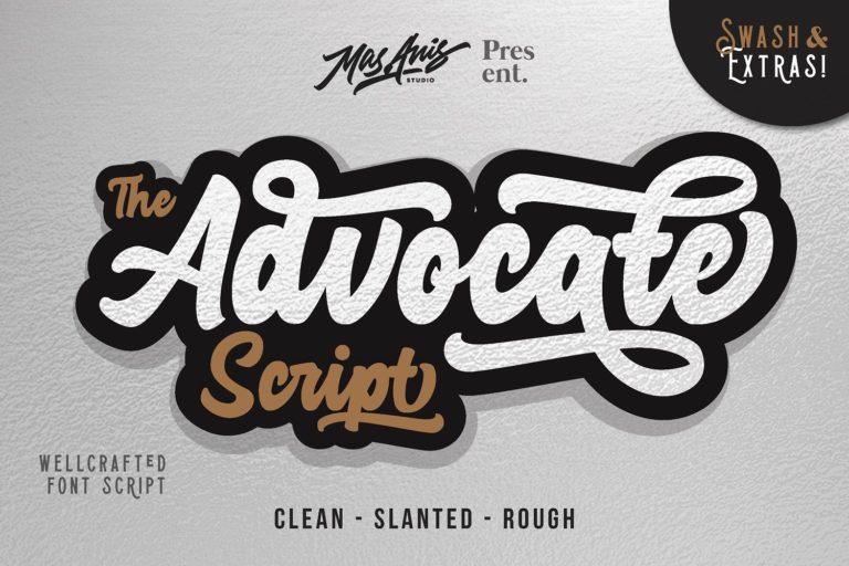 Advocate Script Font