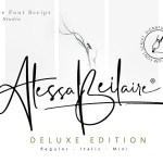Alessa Beilaire Deluxe Edition Font