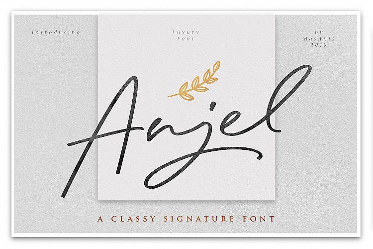Anjel Signature Font
