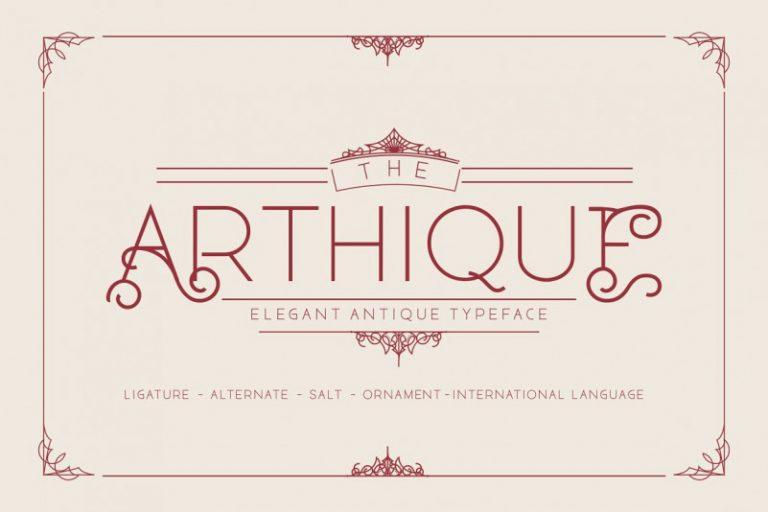 Arthique Elegant Font