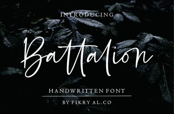 Battalion Handwritten Font