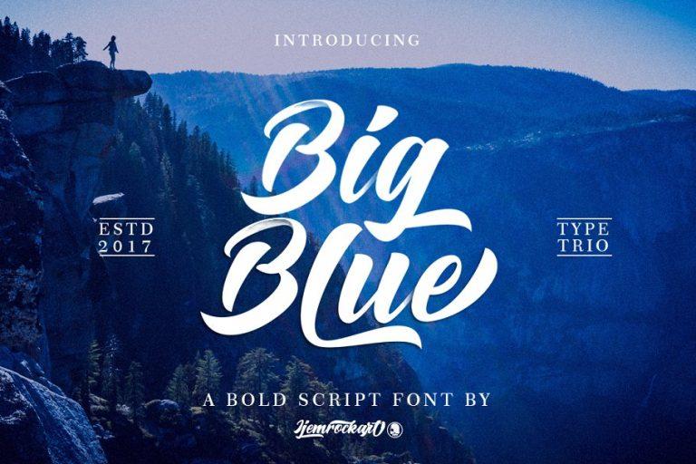Big Blue Bold Script Font