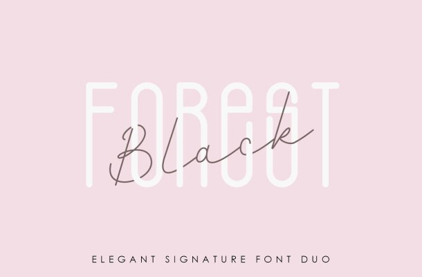 Black Forest Font Duo