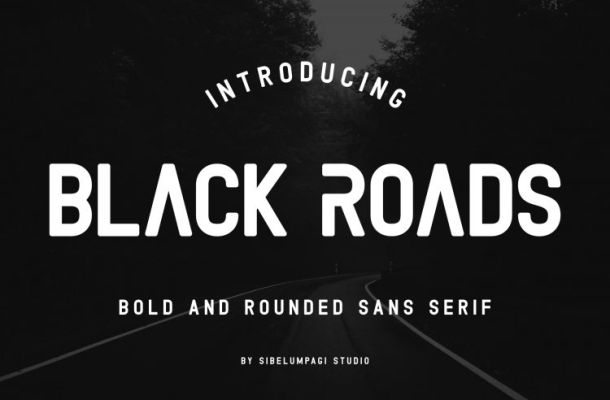 Black Roads Typeface