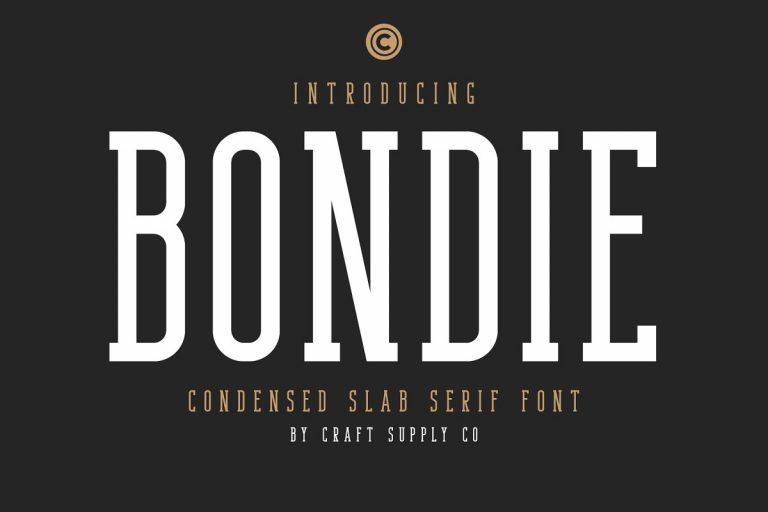 Bondie Slab Serif Font
