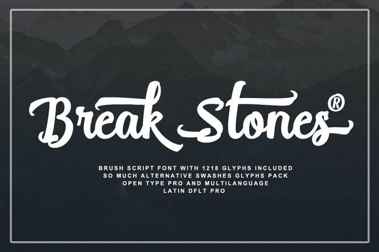 Break Stones Script Brush Font