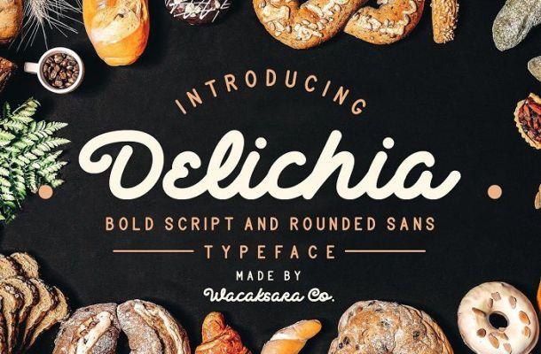 Delichia Bold Script Font