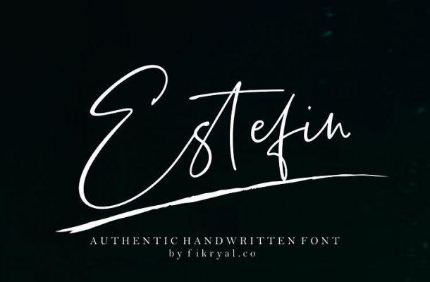 Estefin Script Font