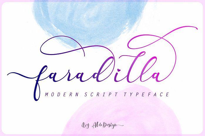 Faradilla Script Font