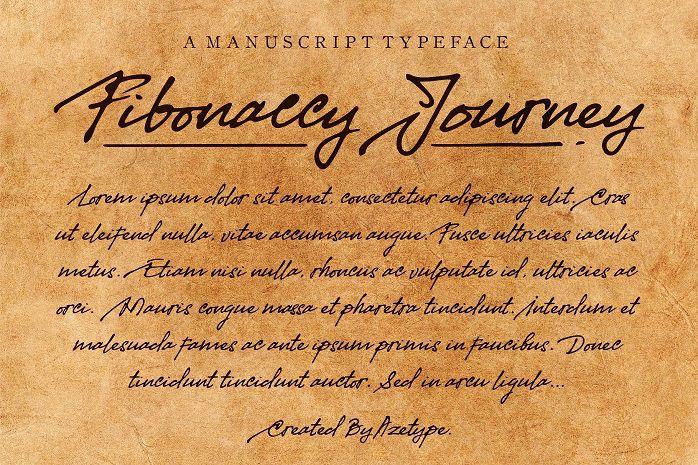 Fibonaccy Journey Script Font-2