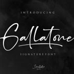 Gallatone Signature Font