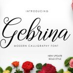 Gebrina Calligraphy Font