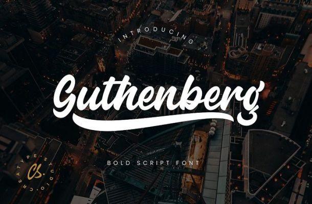 Guthenberg Bold Script Font