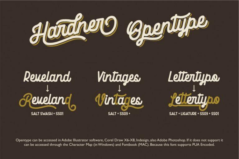 Hardner Vintage Font-2