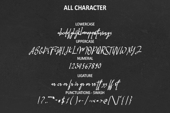 Hastagram Calligraphy Font-2