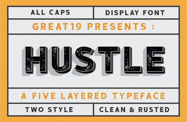 Hustle Display Font