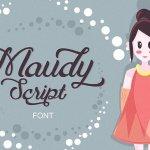 Maudy Script Font
