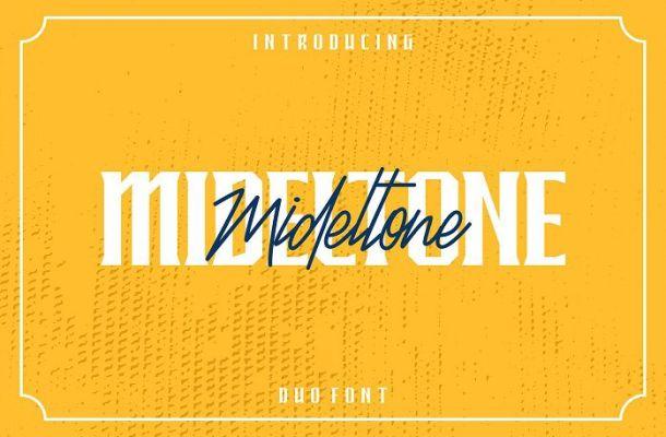 Mideltone Font Duo