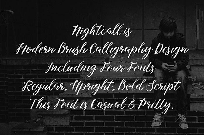 Nightcall Script Font-2