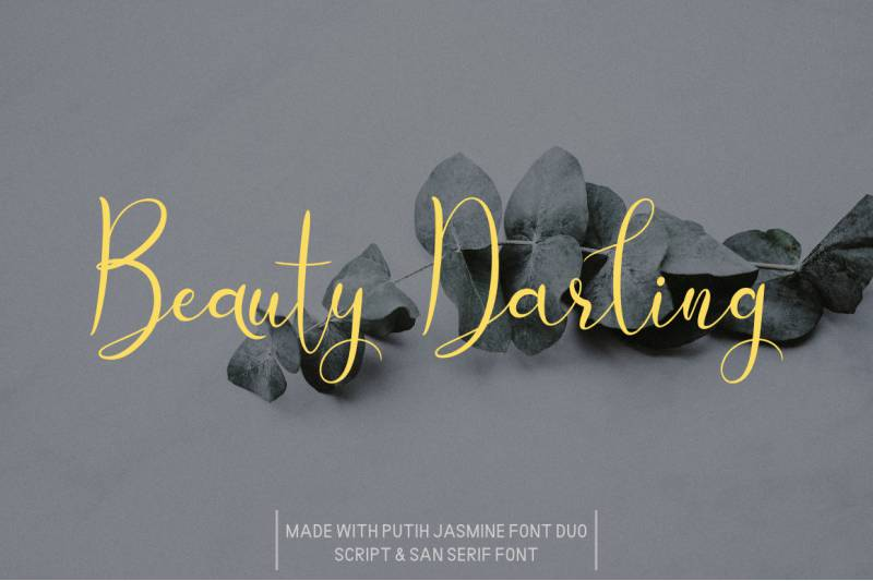 Putih Jasmine Font Duo-1