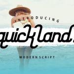 Quick Land Script Font