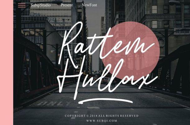 Rattem Hullax Signature Font