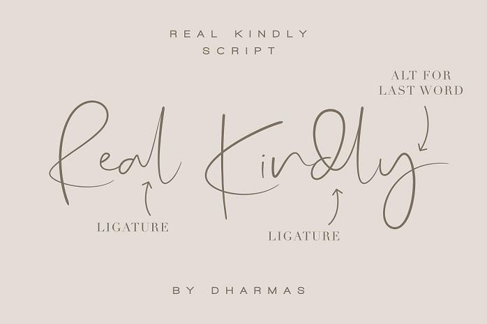 Real Kindly Signature Font-2